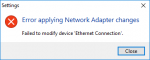 Error applying Network Adapter changes on Live Migration or Hyper-V Replica