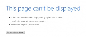 Google not working in Internet Explorer or Edge but does work in Chrome and Firefox