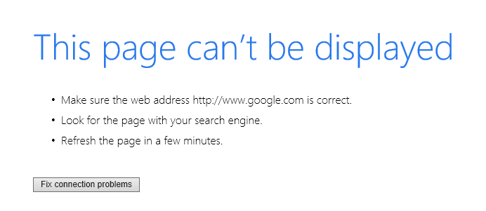 Google not working in Internet Explorer or Edge but does