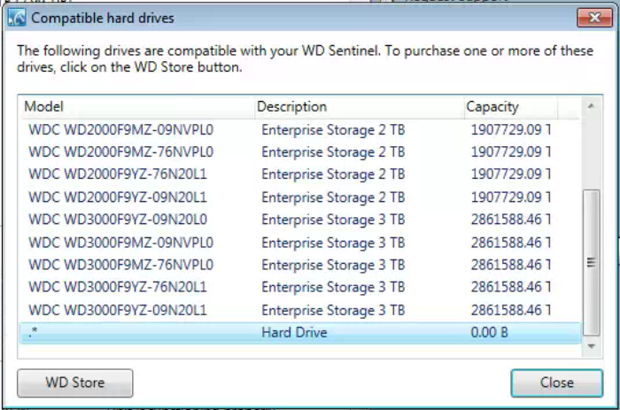 How can I replace a failed drive in WD DX4000 Sentinel with