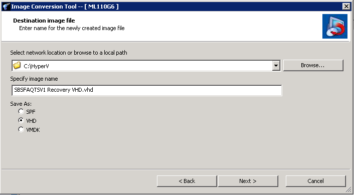How to convert a ShadowProtect Backup to a VHD