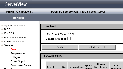 Why do my Fujitsu Servers fans speed up every night at 11pm?