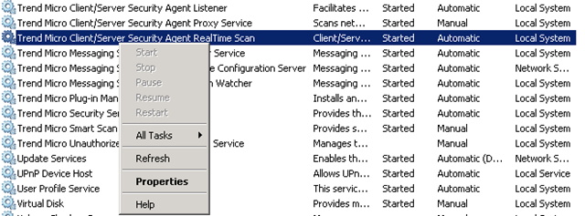 Trend client server security agent not updating